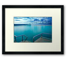 Newcastle Ocean Baths Framed Print
