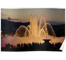 Barcelona Fountain Font Magica Poster