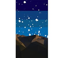 Poly Mountain and Stars Photographic Print
