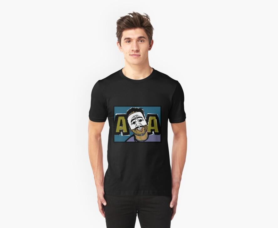 AngryAussie Mask Shirt (for dark shirts) by AngryAussie