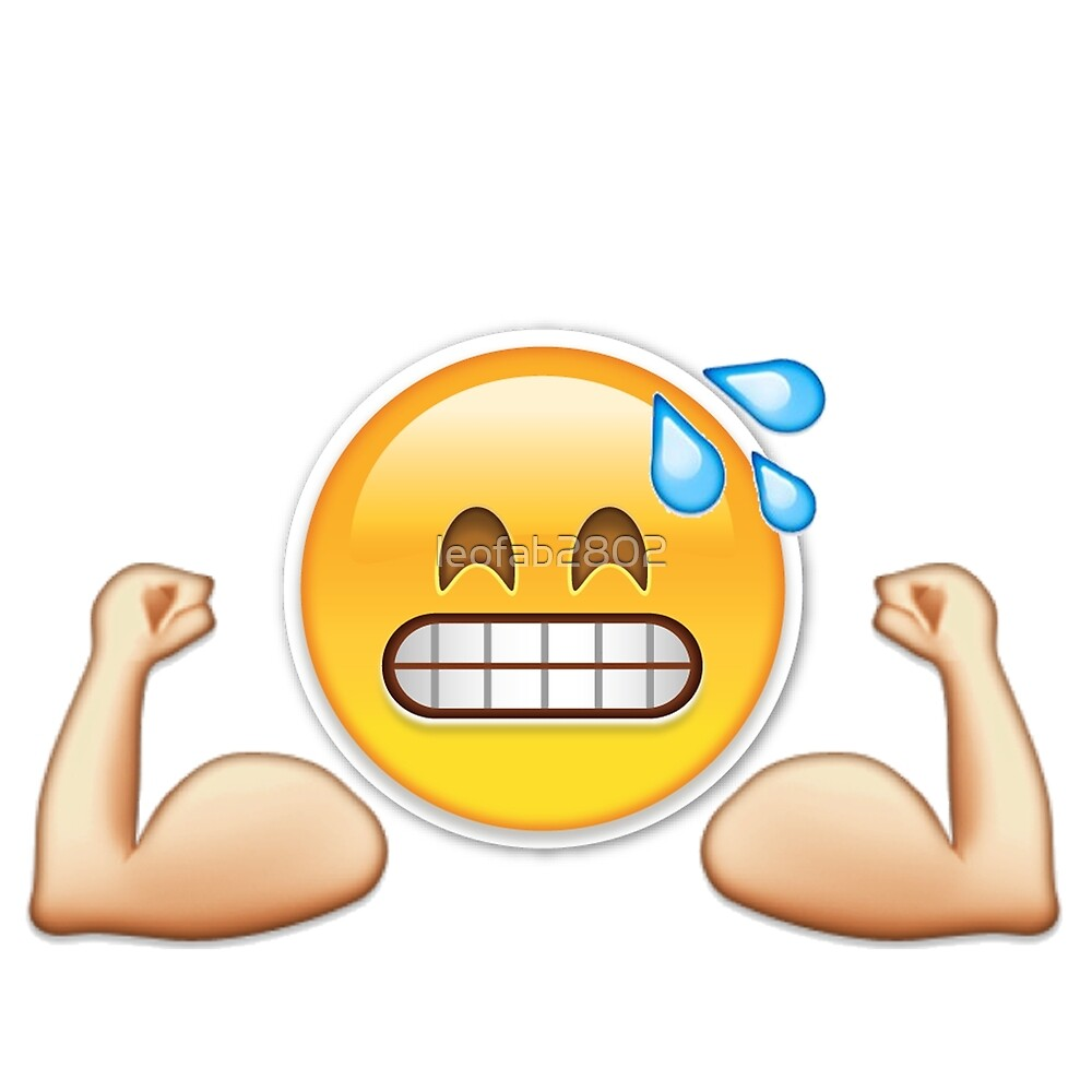 Quot Gym Emoji Quot By Leofab2802 Redbubble