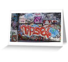 Riverside Graffiti Greeting Card