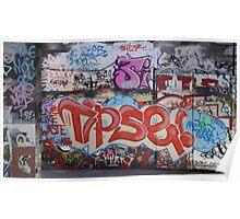 Riverside Graffiti Poster