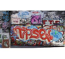 Riverside Graffiti Photographic Print