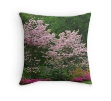 Pink Dogwoods Throw Pillow