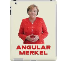 Angular Merkel iPad Case/Skin