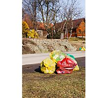 Earth day cleaning Photographic Print