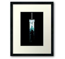 Cloud Strife - Buster Sword Framed Print