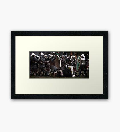 The Melee Framed Print