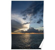 Sunset Storm - Ocean Reef Marina - 31st May 2009 Poster