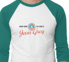 Nobody Knows I'm a Clone of Jean Grey Men's Baseball ¾ T-Shirt