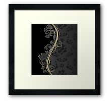 Floral wave Framed Print