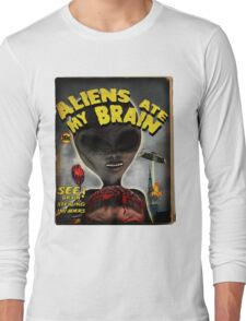 Aliens Ate My Brain (Pulp Cover) Long Sleeve T-Shirt
