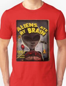 Aliens Ate My Brain (Pulp Cover) Unisex T-Shirt