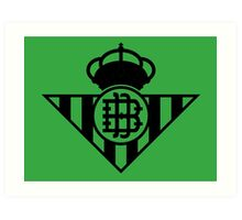 Real Betis Balompié (Black) Art Print