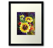 Impressionistic Sunflowers Framed Print