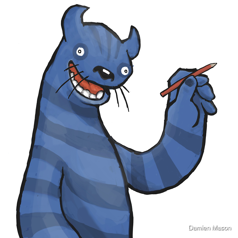 Even Monsters Like To Draw by Damien Mason