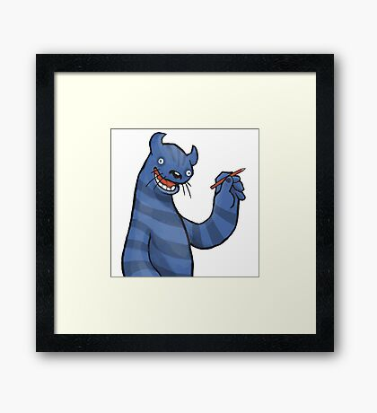 Even Monsters Like To Draw Framed Print