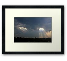 *SEVERE THUNDERSTORM WARNING* Framed Print