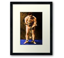 Vintage Houdini in Chains Framed Print
