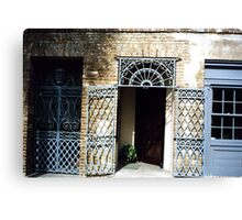 Charleston Doors Canvas Print