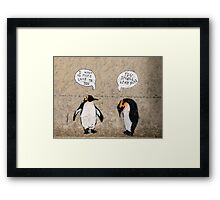 Penguin Graffiti Framed Print