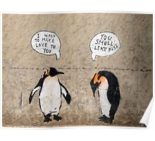 Penguin Graffiti Poster