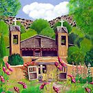 Chimayo N Cosmos, Chimayo, New Mexico ~ Oil Painting by Barbara Applegate