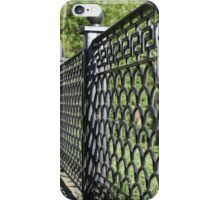 old cast iron fence iPhone Case/Skin