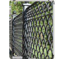 old cast iron fence iPad Case/Skin