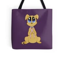 Breast cancer puppy Tote Bag