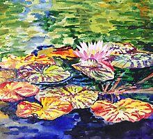 Impressionistic Waterlilies by Irina Sztukowski