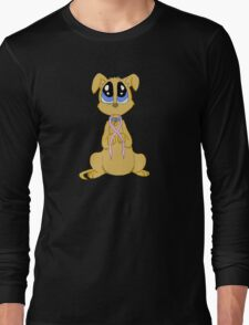 Breast cancer puppy Long Sleeve T-Shirt