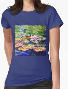 Impressionistic Waterlilies Womens Fitted T-Shirt