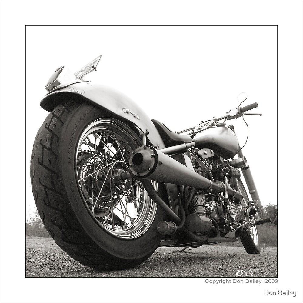 """Harley-Davidson Shovelhead Hardtail - Side A"" by Don Bailey"