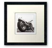 """Harley-Davidson Shovelhead Hardtail - Side A"" Framed Print"