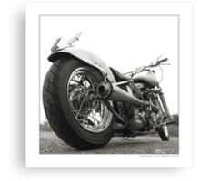 """Harley-Davidson Shovelhead Hardtail - Side A"" Canvas Print"