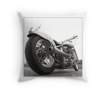 """Harley-Davidson Shovelhead Hardtail - Side A"" Throw Pillow"