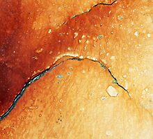 Orange abstract by Haydee  Yordan