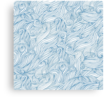 Waves and clouds. Seamless abstract pattern Canvas Print