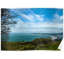 Stinson Beach CA under blue skies Poster