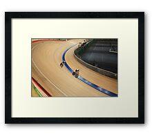 pursuit Cycling tilt  shot Framed Print
