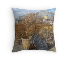 Winter at Bishops Head Throw Pillow