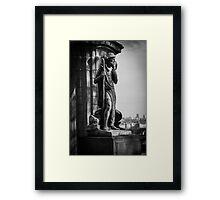 Old Man BW Framed Print