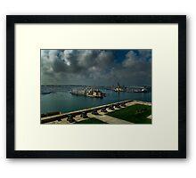 Saluting Battery Grand Harbour Valletta Malta Framed Print