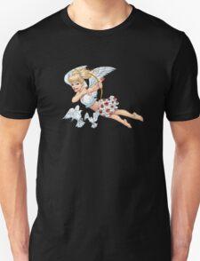 Cute Blond Cupid Angel with Birds by Al Rio T-Shirt