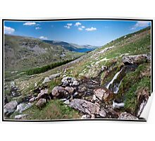 Waterfall view over Hawes Water Poster