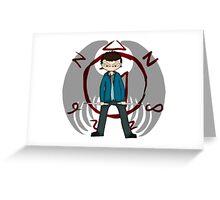 Human Castiel Greeting Card