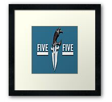 Buffy - Faith 5 by 5 minimalist poster Framed Print