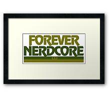 NERDCORE Framed Print
